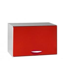 Meuble capot 1 porte 60cm rouge