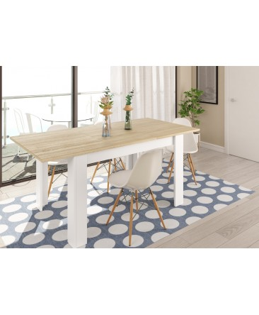 table console extensible en bois 140  à 190 cm kenda