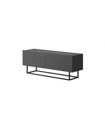 meuble TV anthracite moderne style contemporain avec rangements enjoy