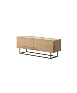 meuble TV bois design industriel avec espaces de rangement enjoy