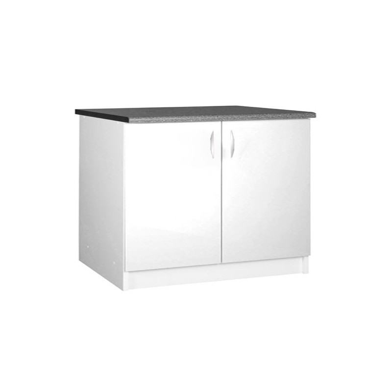 meuble cuisine sous vier 2 portes 120cm oxane. Black Bedroom Furniture Sets. Home Design Ideas