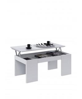 table basse design relevable CENDA blanc