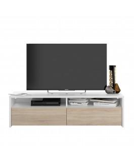 meuble télé blanc anti-rayures kioto
