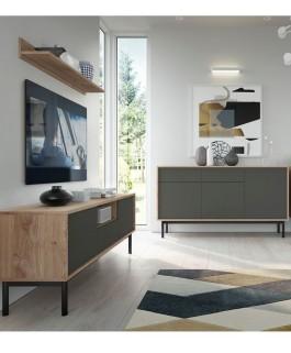 meuble tele basil industriel 154 cm