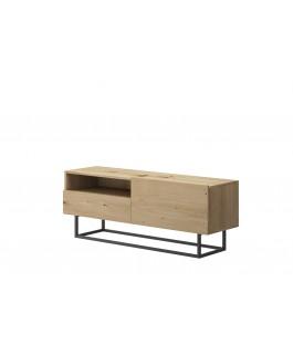 meuble TV bois avec rangements et tiroir enjoy