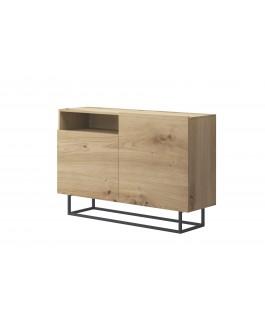 commode 120 cm en bois avec rangements enjoy