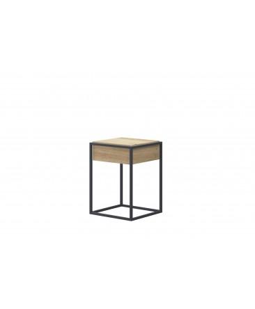 table basse 40 cm design pas cher bois/métal enjoy