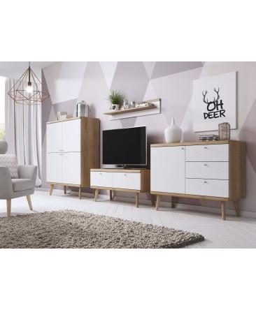 ensemble commode + vitrine + meuble TV pour salon primo