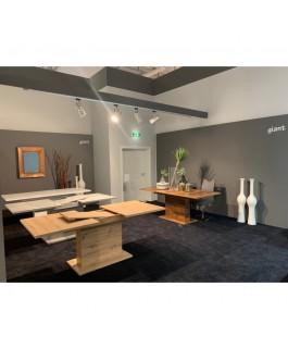 table bois naturel GLIANT de 160 cm avec une allonge de 40 cm