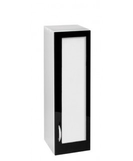 Élément haut 1 porte vitrine 120 x 40cm