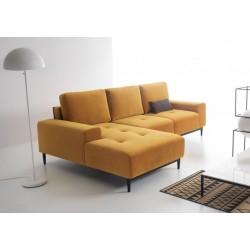 joli canapé angle convertible jaune moderne 4 places VERO