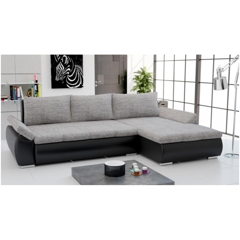 sofa divan d'angle convertible en lit avec coffre de rangement