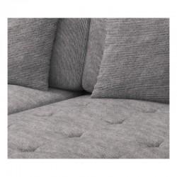 Canapé panoramique gris assise confortable en U SMILE en tissu et simili cuir