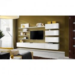 ensemble de meubles tv ultra design étagères murales blanc laqué produit européen italy