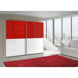 Armoire LUX bi-couleur horizontale rouge et blanc