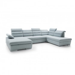 canapé panoramique design bleu pastel 5 places greco II