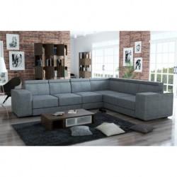 Canapé d'angle 6 places gris CAARIA