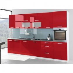 cuisine rouge laquée 320 cl avec four incastrable cuisine de fabrication européenne tara