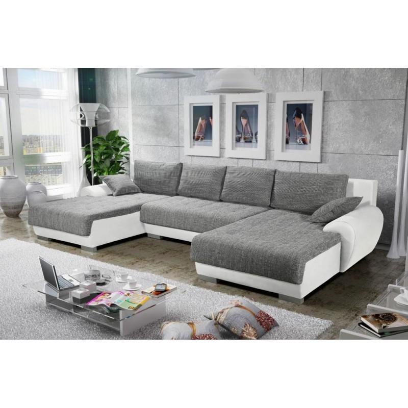 Canapé panoramique convertible TEREN blanc