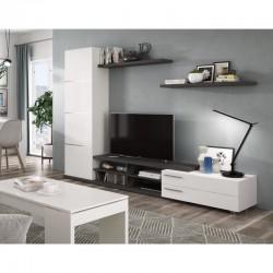 ensemble tv meubles TV tendance blanc laqué adhari