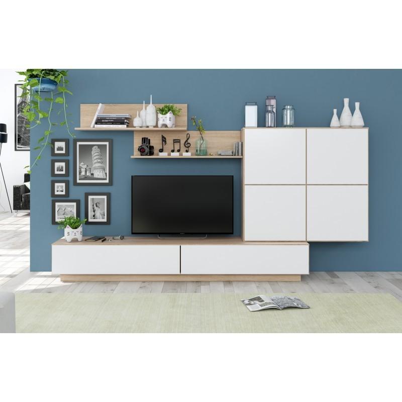 ensemble meuble télé blanc lou