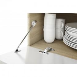ensemble de meuble télé blanc avec rangements +  étagères suspendues et module avec 4 portes et tablettes lou