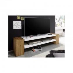 meuble TV en bois et en blanc xena II