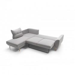 canapé d'angle convertible gris 3 places stormi