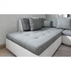 canapé panoramique meilleur prix en gris blanc 6-7 places de longueur 342 cm athos