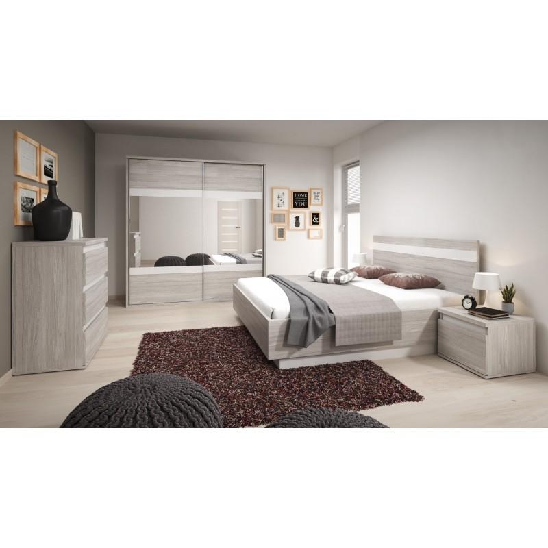 Chambre A Coucher Complete Montreal Gris Et Blanc En Mdf