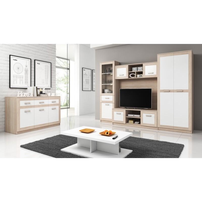 ensemble meubles télé de salon avec rangements egina