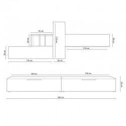 ensemble meubles murale bois blanc rangement meubles haut et bas elio