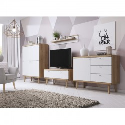 meuble télé 107 cm scandinave primo