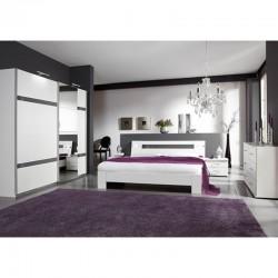 lit double blanc laque nissa