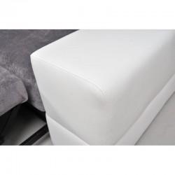 Canapé d'angle 4 places convertible CAPRE avec têtières relevables