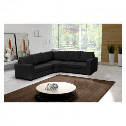 Canapé d'angle 5 places Noir LILI
