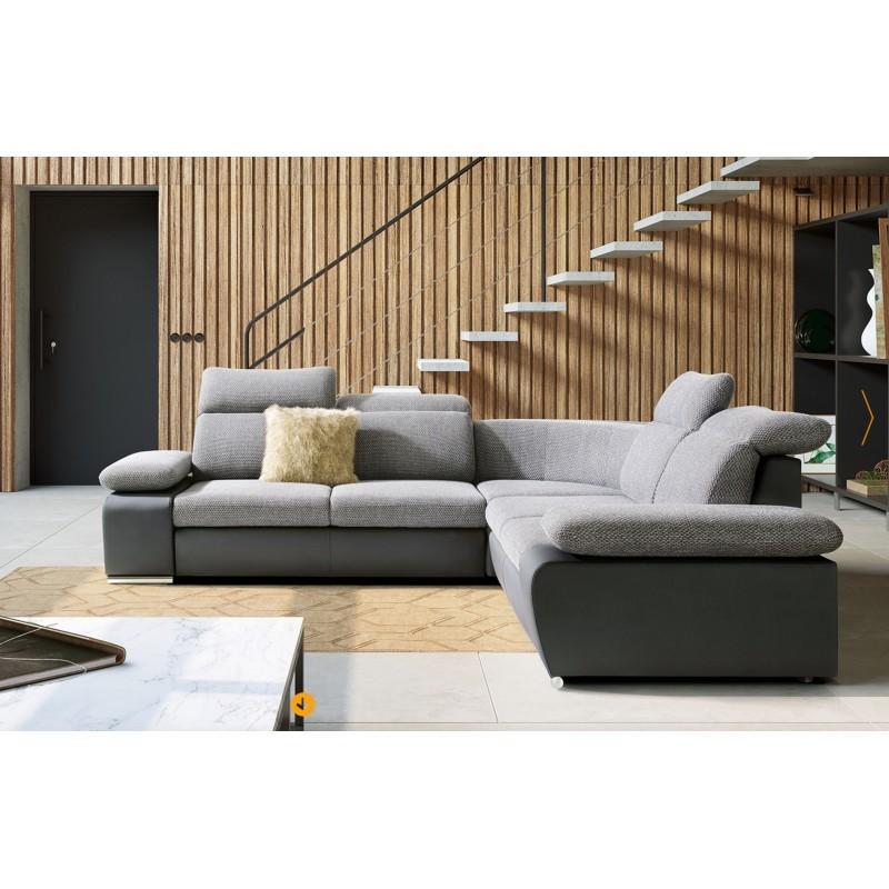 canapé d'angle confortable et design 4 places odessa mini