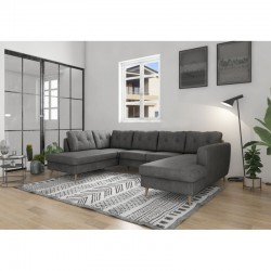 canapé scandinave panoramique convertible gris 6-7 personnes ontario II