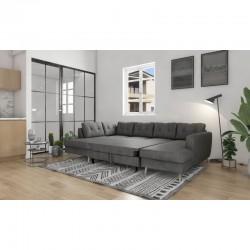 canapé lit panoramique convertible gris  ontario II