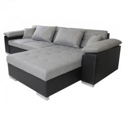 canapé-lit 4 places gris mirella