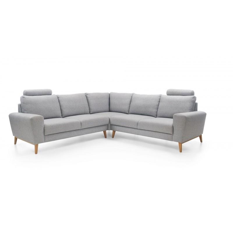 canapé d'angle moderne scandinave gris pastel 5 places MOUNA I