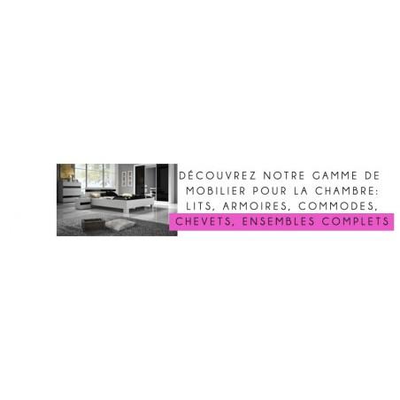 Catalogue complet de mobilier pour une chambre moderne et design